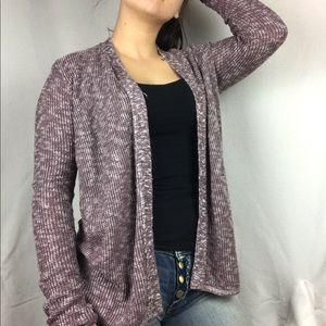 AEO heathered purple knit cardigan
